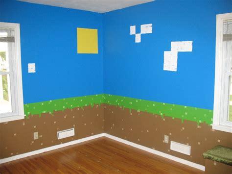 minecraft bedroom wallpaper my daughter s minecraft inspired bedroom album on imgur