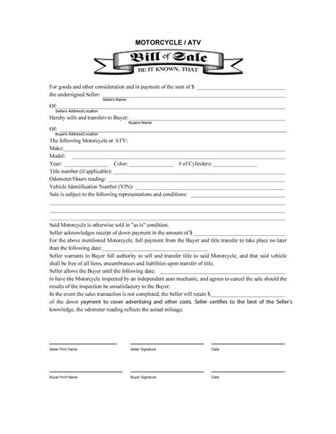bill of sale sle template 45 fee printable bill of sale templates car boat gun