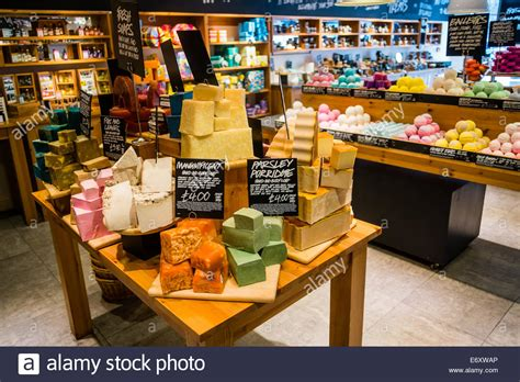 Handmade Cosmetics Uk - lush handmade cosmetics shop store uk stock photo