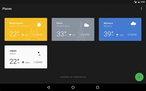 android get current time weather timeline android app materialup