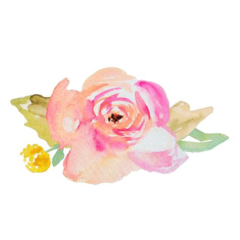 water color flower watercolor flower svg cut file featuring painted