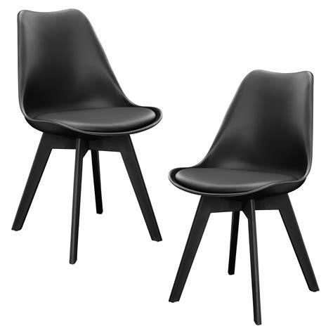 ebay chaises en casa 2x design chaises salle 224 manger noir chaise