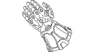infinity gauntlet and thanos coloring page free