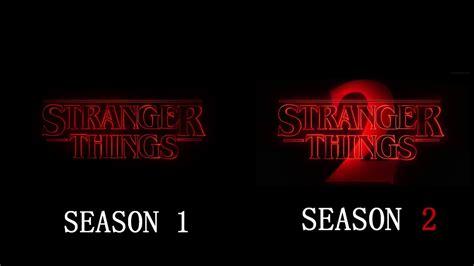 bioskopkeren stranger things season 1 stranger things seasons 1 2 intro side by side