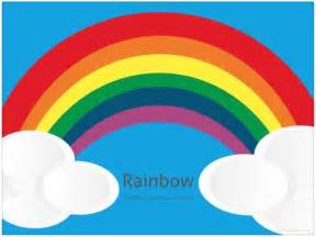Rainbow Powerpoint Template by Free Rainbow Powerpoint Template