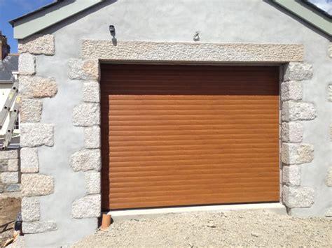 golden oak rollmatic roller garage doors in cornwall