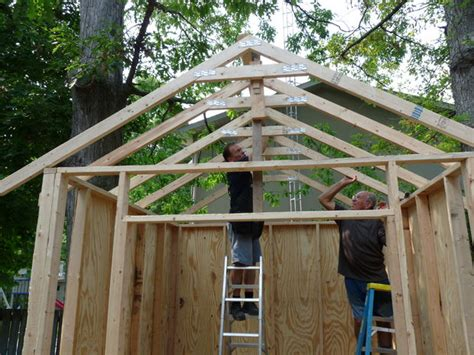 build   storage shed  steps  pictures