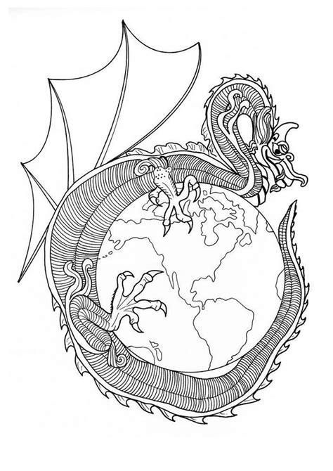 dragon mandala coloring pages dragon of world mandala coloring pages hellokids com