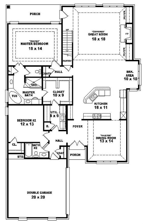 one and a half story floor plans 654287 one and a half story 4 bedroom 3 bath french