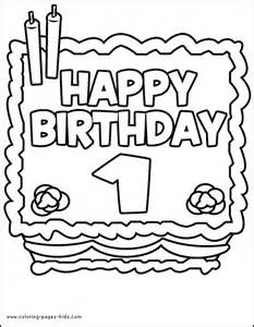 birthday color birthday color page coloring pages for