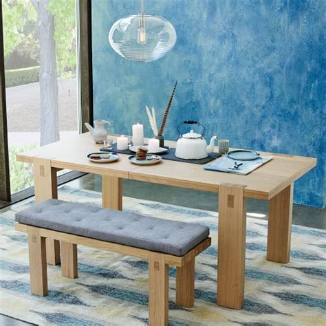west elm bench cushion tufted dining bench cushion west elm