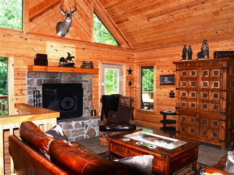 Cottages With Log Fires And Tubs by Luxury Log Cabin W Tub Grill Fireplace
