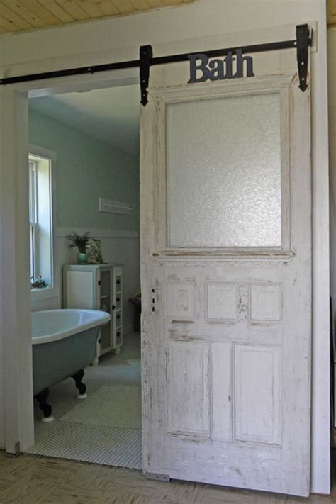 sliding bathroom door ideas 25 best ideas about farmhouse bathrooms on pinterest