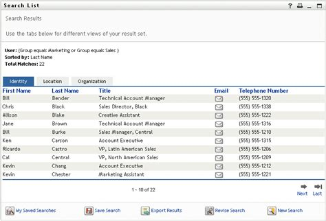 Search List Novell Doc Identity Manager Roles Based Provisioning Module 3 7 0 User Application