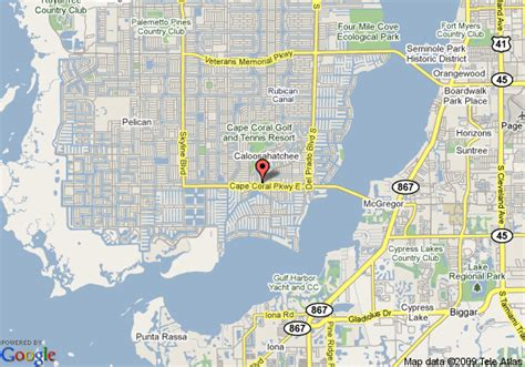 map of cape coral fl map of hton inn suites cape coral fl cape coral