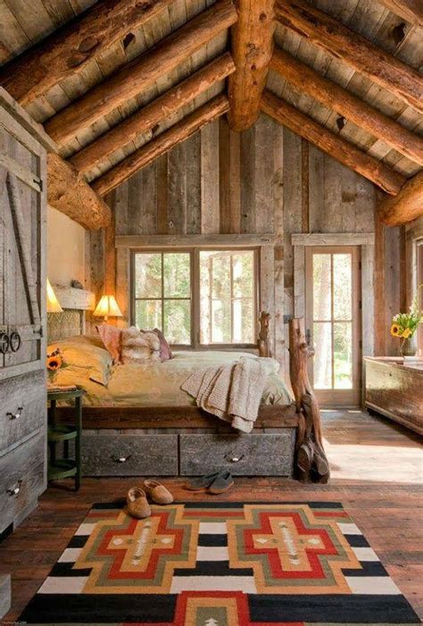 Log Cabin Open Floor Plans by 50 Rustic Bedroom Decorating Ideas Decoholic