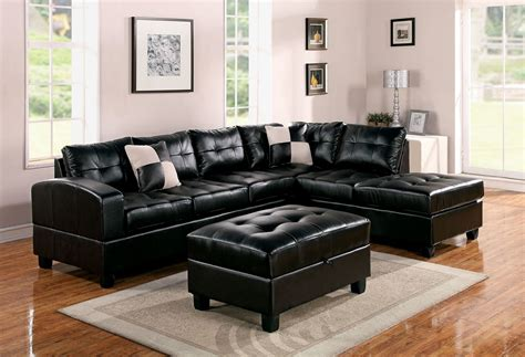 Right Sectional Sofa Sectional Sofa Kiva Espresso Bonded Leather Right Chaise Sofa Ottoman