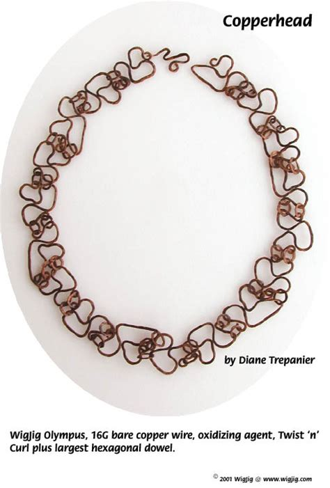 free jewelry supplies copperhead wire necklace pg 1 made with wigjig jewelry