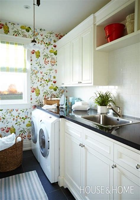 laundry room wallpaper  creative ideas designs