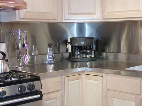 Beautiful Backsplashes Kitchens by Beautiful Stainless Steel Countertops And Wall Panels