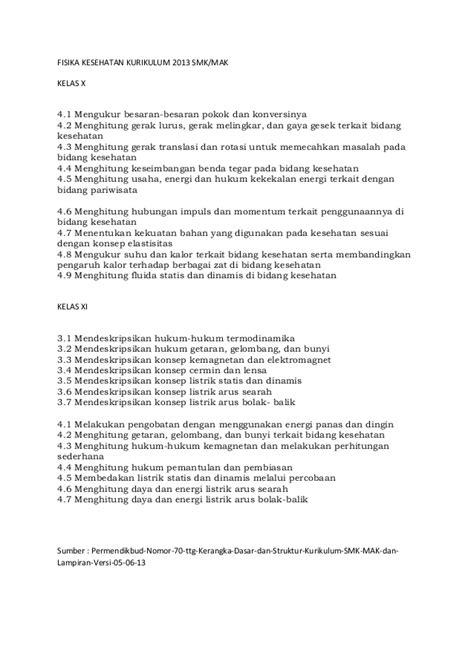 Fisika Smk Kelas X 1 materi fisika kesehatan kurikulum 2013 smk kelas x dan xi