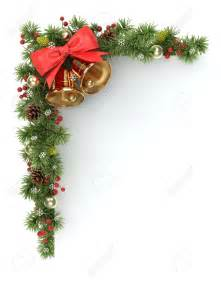 Tree Branch Banister Christmas Ornament Corner Borders Happy Holidays