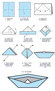 How Do I Make A Paper Boat - walsh wildcat e zine how to make origami boats by