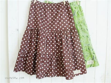 pattern free skirt girls tiered skirt free pattern steph pinterest