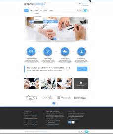 home web design business psd corporate business web design template designscanyon
