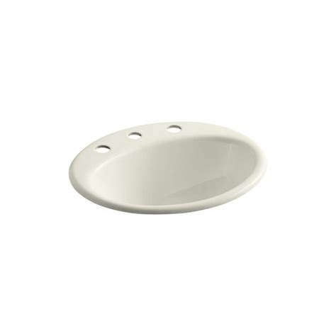 kohler farmington bathroom sink kohler farmington drop in cast iron bathroom sink in