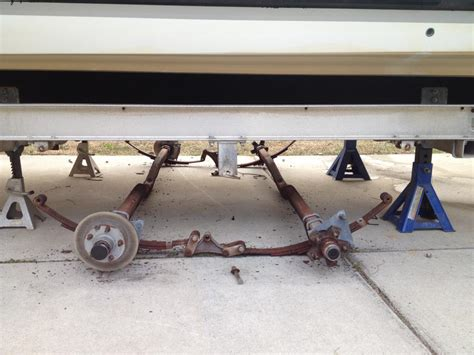 boat trailer eating tires leaf spring to torsion axle swap the hull truth