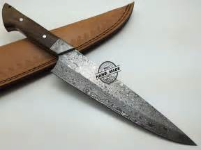 kitchen knife custom handmade damascus steel chefs chef