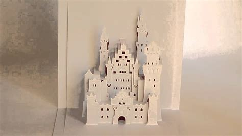 Disney Castle Pop Up Card Template by Origamic Architecture Neuschwanstein Castle