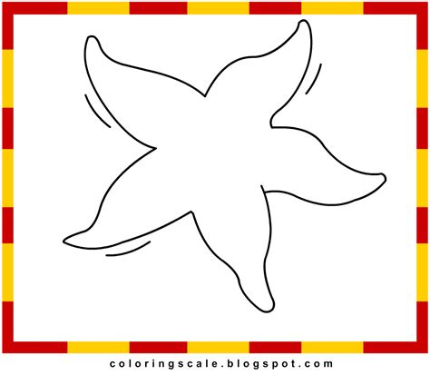 printable starfish coloring pages printable starfish template pictures to pin on pinterest