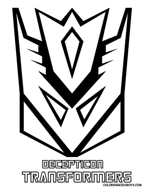 transformers logo coloring pages decepticon transformers logo coloring pages gt gt disney