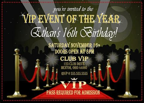 themes vip download vip party invitation red carpet digital download or by