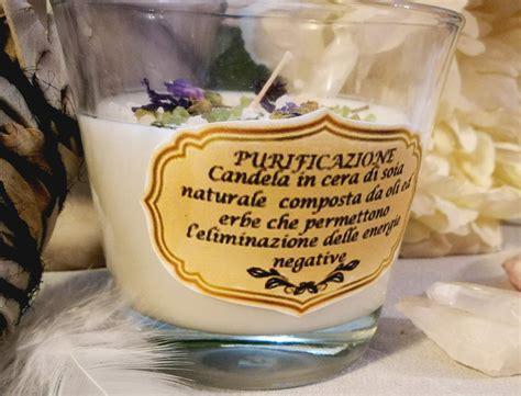 riti con candele set 2 candele per purificazione rituale themagicwood