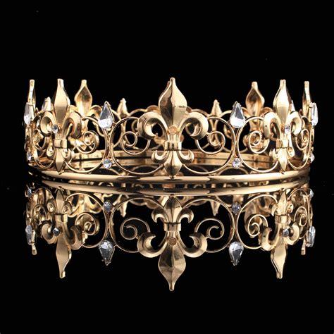 king crown design in hair cut adult royal crown king queen full crowns iris flower
