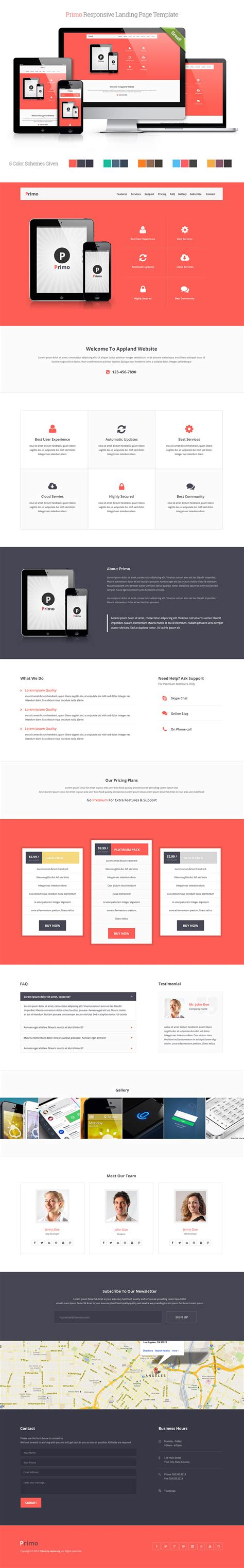 primo responsive landing page template by saptarang on