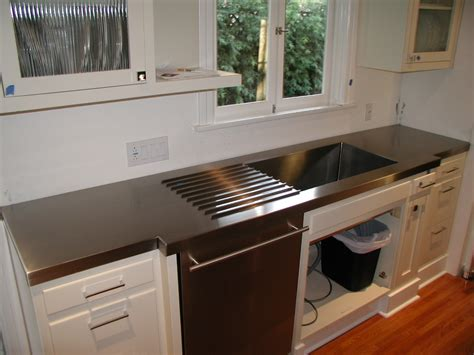 stainless countertop with sink stainless countertop with drain rails and sink jnl