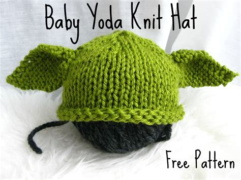 Baby Yoda Knit Hat With Free Pattern Fuzzyclouddesigns