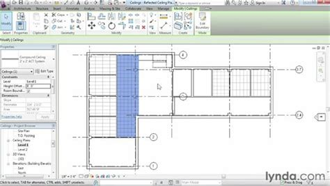 revit tutorial start to finish working with ceilings
