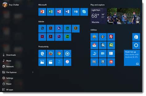 layout start menu windows 10 windows 10 start menu the powerpoint blog