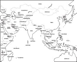 blank map of asia with country names blank map of asia with country names