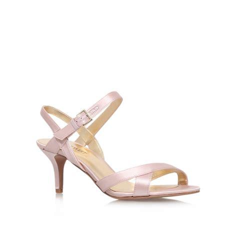 nine west high heel sandals nine west genevra2 high heel strappy sandals in pink lyst