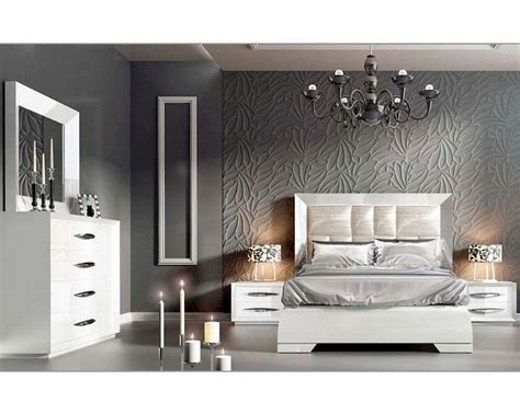 modern white bedroom furniture white modern bedroom set carmen 33131ca