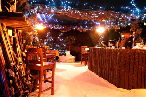 themed christmas events london montague ski lodge apr 232 s ski in the centre of london