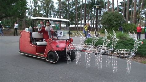 christmas decorated golf carts disney s fort wilderness golf cart parade 2012 w donald duck santa mrs