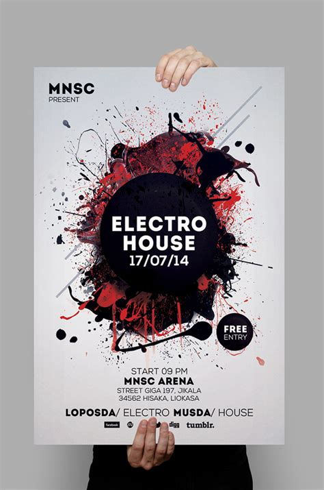 house party flyers design modern party flyers templates design graphic design junction