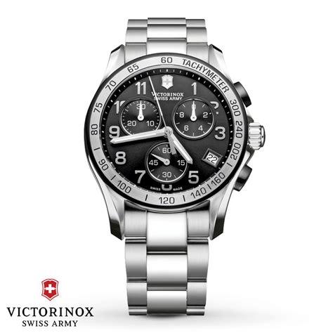 Swiss Army Chain Silver victorinox swiss army 241403 chrono classic black silver bezel bracelet